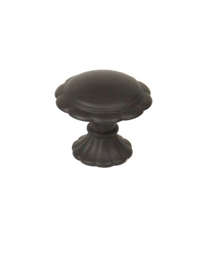 Century Fiori 1 3/8 Inch Cabinet Knob in Oil Rubbed Bronze