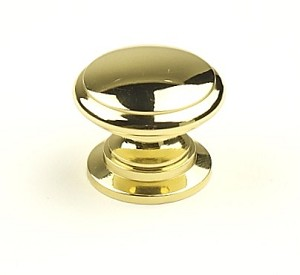 Century Hartford 1 1/4 Inch Cabinet Knob in Polished Brass