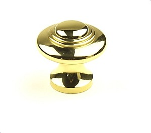 Century Hartford 1 3/8 Inch Cabinet Knob in Polished Brass