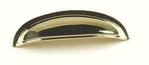 Century Hartford 3 Inch CC Cup Pull in Polished Brass