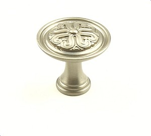 Century Iris 1 3/16 Inch Cabinet Knob in Dull Satin Nickel