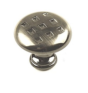 Century Majestic 1 3/16 Inch Cabinet Knob in Black Nickel