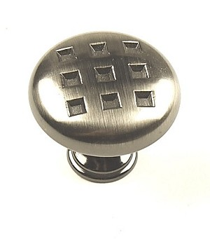 Century Majestic 1 3/8 Inch Cabinet Knob in Black Nickel