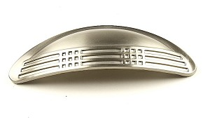 Century Majestic 3 Inch Cup Pull in Dull Satin Nickel