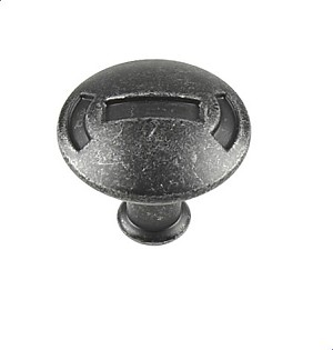 Century Medieval 1 3/16 Inch Cabinet Knob in Vibra Pewter