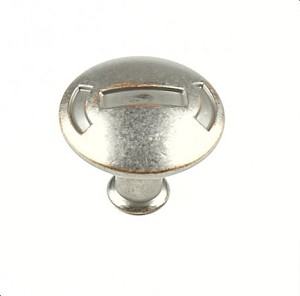 Century Medieval 1 3/16 Inch Cabinet Knob in Weathered Nickel