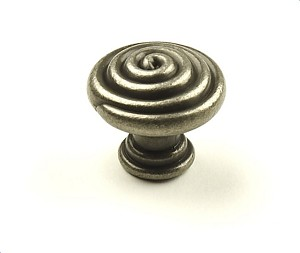 Century Omega 1 3/8 Inch Cabinet Knob in Aged Pewter