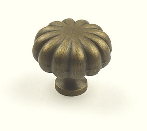 Century Plymouth 1 1/4 Inch Cabinet Knob in Weathered Brass