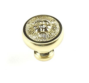 Century Roman 1 1/4 Inch Cabinet Knob in Polished Brass