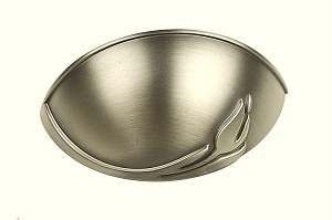 Century Tulip 64mm Cup Pull in Antique Pewter