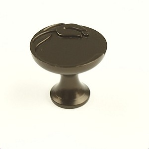 Century Tulip 1 3/16 Inch Cabinet Knob in Oil Rubbed Bronze