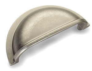 Dynasty 3 Inch Bin Pull - Antique Nickel/Pewter