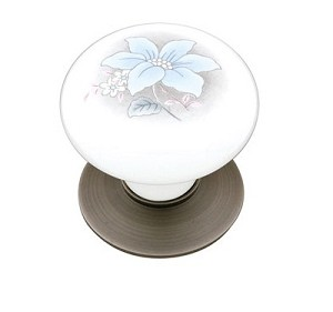 Emtek Courtney 1 3/8 Inch Porcelain Cabinet Knob