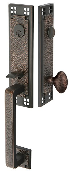 Emtek Door Hardware Emtek Arts And Crafts Entrance Handleset