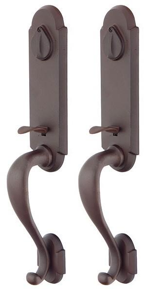 Emtek Door Hardware Emtek Sandcast Remington Grip By Grip Entrance Handleset