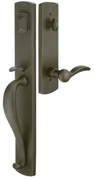 Emtek Door Hardware Emtek Sandcast Creston Entrance