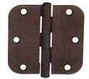 "Emtek 3.5"" Residential Duty Door Hinges with 5/8"" Round Corners  (pair)"
