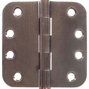 Emtek 4 Inch Solid Brass Heavy Duty Door Hinges with 5/8 Inch Round Corners  (pair)