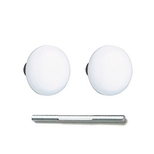 Emtek Ice White Knobs with Threaded Spindle