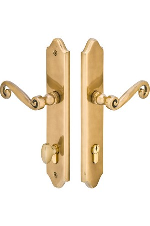 Emtek Configuration 5 2x10 Multi Point Lock - Brass Concord Plate  Trim Only