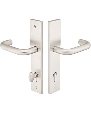 Emtek Configuration 5 Modern 2x10 Multi Point Lock - Stainless Steel  Trim Only