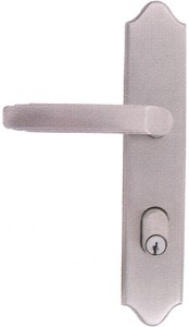 Emtek Configuration 6 2x10 Multi Point Lock - Brass Concord Plate  Trim Only