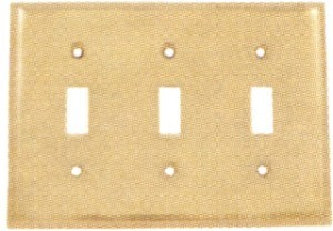 Emtek Colonial Triple Switch Plate