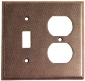 Emtek Colonial Switch and Plug Combo Plate