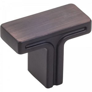 Hardware Resources Anwick 1-3/8 Inch Cabinet Knob- Brushed Oil-Rubbed Bronze