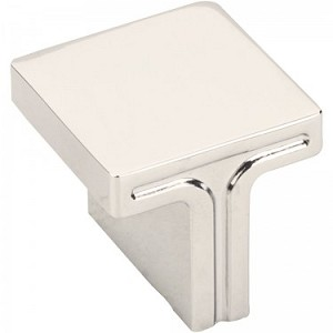 Hardware Resources Anwick 1-1/8 Inch Square Cabinet Knob- Polished Nickel