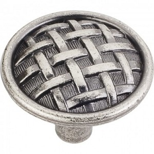 Hardware Resources Ashton 1-5/8 Inch Cabinet Knob - Distressed Pewter