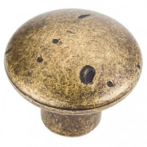 Hardware Resources Belcastel 2 Cabinet Knob 1-1/4 Inch - Distressed Antique Brass