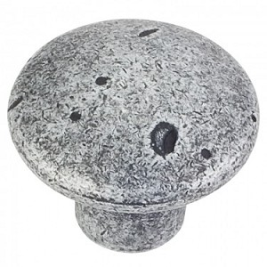 Hardware Resources Belcastel 2 Cabinet Knob 1-1/4 Inch - Distressed Antique Silver