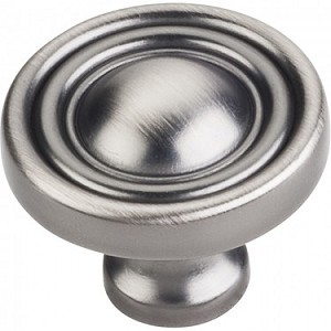 Hardware Resources Bella 1-3/8 Inch Cabinet Knob - Brushed Pewter