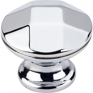 Hardware Resources Drake 1-1/4 Inch Cabinet Knob - Polished Chrome