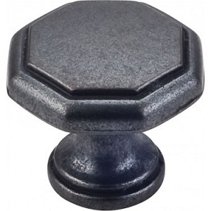 Hardware Resources Drake 1-3/16 Inch Cabinet Knob - Gun Metal