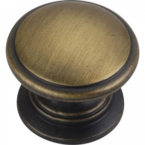 Hardware Resources Durham 1-1/4 Inch Cabinet Knob - Antique Brushed Satin Brass