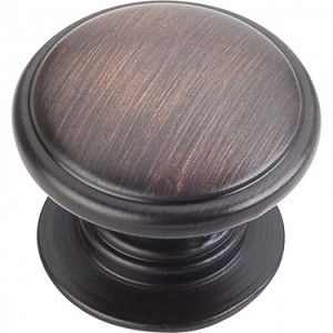 Hardware Resources Durham 1-1/4 Inch Cabinet Knob - Brushed Oil-Rubbed Bronze