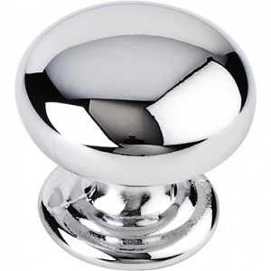 Hardware Resources Florence 1-1/4 Inch Cabinet Knob- Polished Chrome