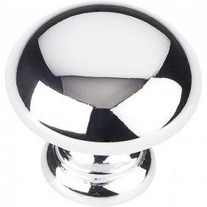 Hardware Resources Geneva 1-1/4 Inch Cabinet Knob - Polished Chrome