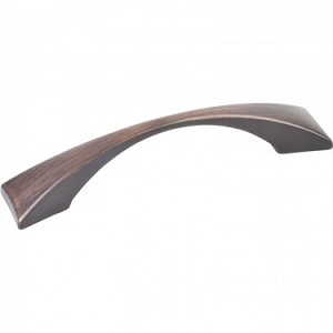 Hardware Resources Glendale 96mm CC Cabinet Pull - Brushed Oil-Rubbed Bronze