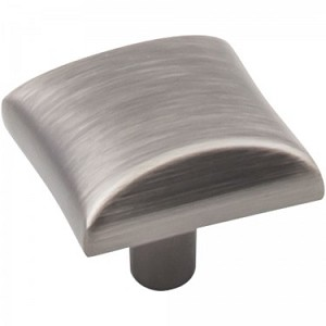 Hardware Resources Glendale 1 Inch Cabinet Knob - Brushed Pewter