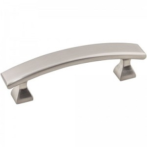 Hardware Resources Hadly 3 Inch CC Cabinet Pull - Satin Nickel
