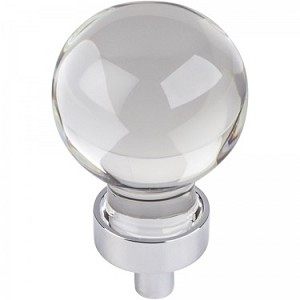 Hardware Resources Harlow 1-1/16 Inch Glass Sphere Cabinet Knob - Polished Chrome