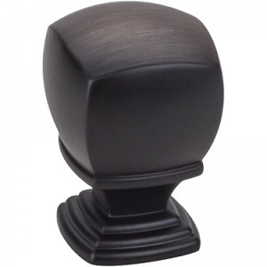 Hardware Resources Katharine 1 Inch Cabinet Knob - Brushed Oil-Rubbed Bronze