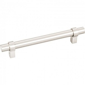 Hardware Resources Key Grande 128mm CC Cabinet Pull - Satin Nickel