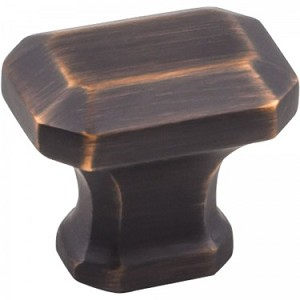 Hardware Resources Ella Cabinet Knob in Brushed Oil Rubbed Bronze