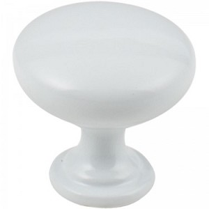 Hardware Resources Madison Cabinet Knob in White