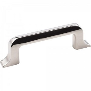 "Hardware Resources 4 3/16"" Callie Polished Nickel Cabinet Pull"