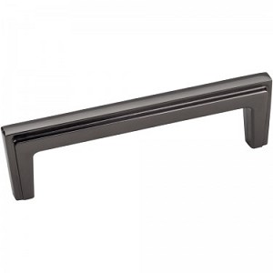 "Hardware Resources 4 3/16"" Lexa Black Nickel Cabinet Pull"